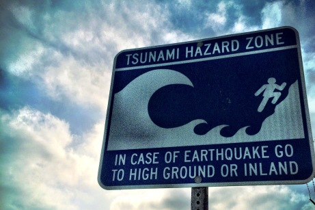 Tsunami Hazard Sign